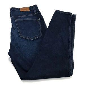 "Madewell 32 10"" High Rise Skinny Skinny Blue Jeans"